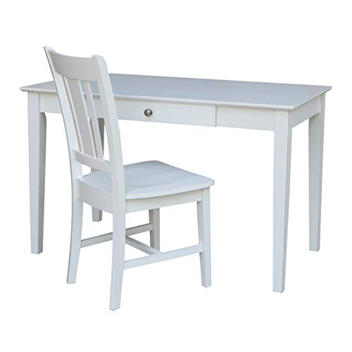 International Concepts K07-OF-41-C10 Hand Rubbed Desk and Chair Beach White