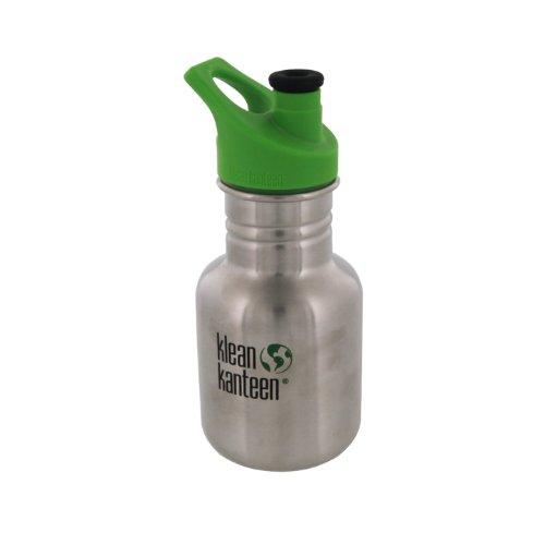 Klean Kanteen 12 -Ounce Classic, Poly Sport Cap 2.0 Stainless Steel Water Bottle