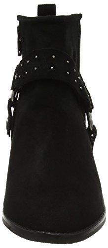 Fen Biz Black Femme Black Bottes Lycra Suede Noir Shoe fq14nq