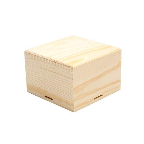 - Handmade Square Wooden Jewelry Box Solid Wood Square Wooden Gift Storage Box Toiletries Storage Box Chocolate Box Cosmetic Box Green Solid Wood Box Unscented 13☀13☀8.5 cm5.1☀5.1☀3.3 inches