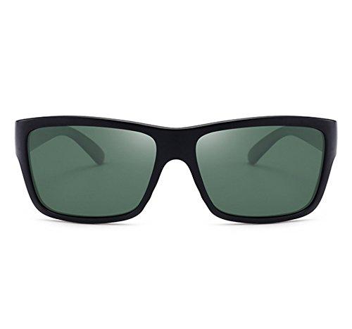 sol del Gafas Mate Verde de Gafas de marco Worclub polarizadas clásicos retros cuadradas UV400 gruesas protectoras conducción Negro OEWqnddxHR