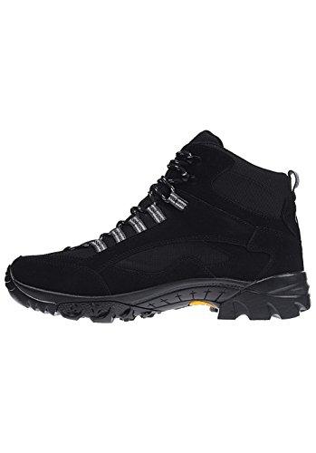 Bruetting Chimney Rock, Zapatos de High Rise Senderismo para Hombre Negro (Schwarz/grau)
