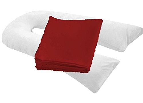MoonRest 20″ X 130″ Oversized Body Pillowcase/Cover – Zipper End (Burgundy)