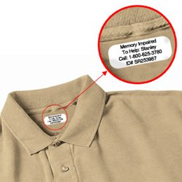 Iron on Clothing Labels - 100 - LARGE 3 or 4 line - Personalized with Your Text! Your choice of ink color. Black - Blue - Green