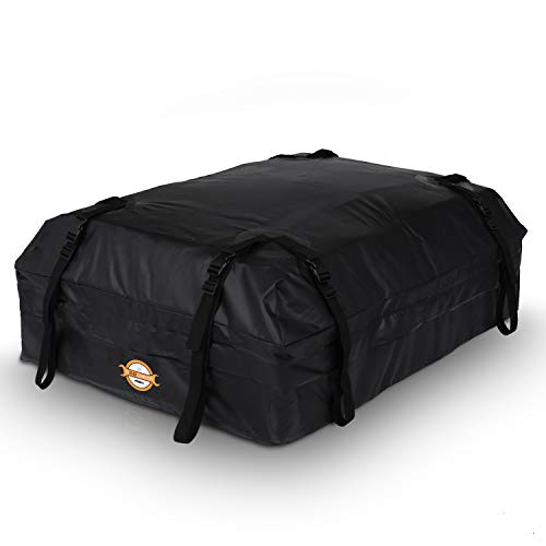 Adakiit Car Roof Cargo Carriers,Water Resistant Soft Rooftop Travel Cargo Bag Box Storage Luggage,Best for Road Traveling, Universal Roof Bag for Cars, Vans, SUVs(15 Cubic Feet)