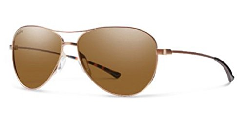 Smith Optics - LANGLEY, Aviator, metal, women, SAND BROWN/BROWN POLARIZED(4YO/F1), - Online Smith Sunglasses