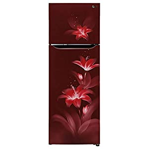 LG 308 L 2 Star Inverter Frost-Free Double Door Refrigerator (GL-T322SRGY, Ruby Glow)