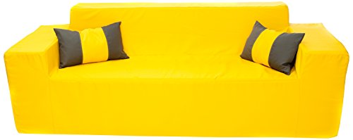 SOFTBLOCK Outdoor/Indoor Sofa, 82 x 30 x 27-Inch, Sunshine Yellow