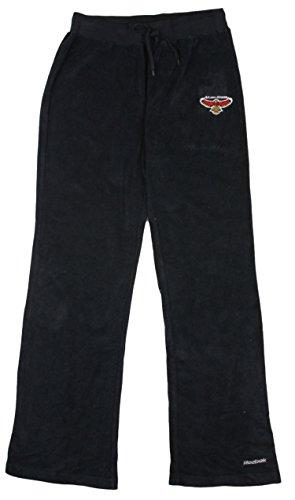 Womens NBA Atlanta Hawks Terry Cloth Athletic Pants, Black
