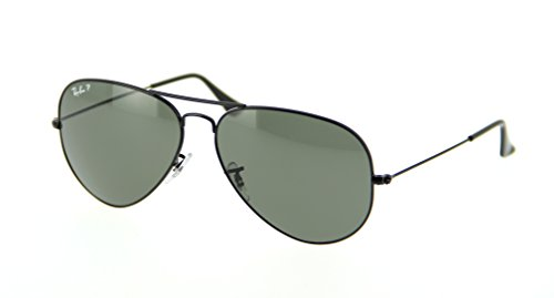 Ray-ban Aviator Polarized Sunglasses RB 3025 002/58 62mm +SD Glasses+Cleaning Kit