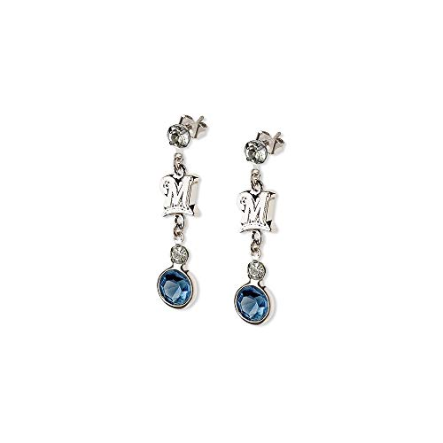 MLB Milwaukee Brewers MILWAUKEE BREWERS CRYSTAL LOGO PAIR OF EARRINGS Size One Size