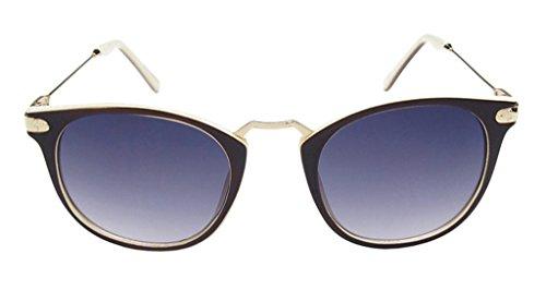 Eyekepper Vintage Inspire Retro Ovale Lunettes de soleil femmes Marron+beige-gris