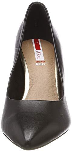 007 7 oliver 22 Negro 22411 black Tacón Zapatos 5 Mujer Uni 5 S De Para X6Uwq