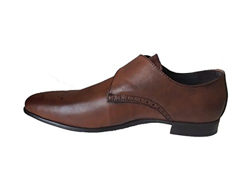 Charles Jourdan Jean Mens Läder Munk Strap Dress Shoe Tobak