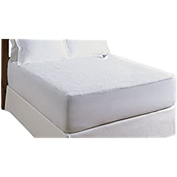 Serta Luxurious Sherpa Top Low-Voltage Electric Heated Mattress Pad, King, White