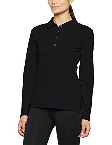 James & Nicholson Elastic Long-Sleeved, Polo para Mujer Schwarz (Black)