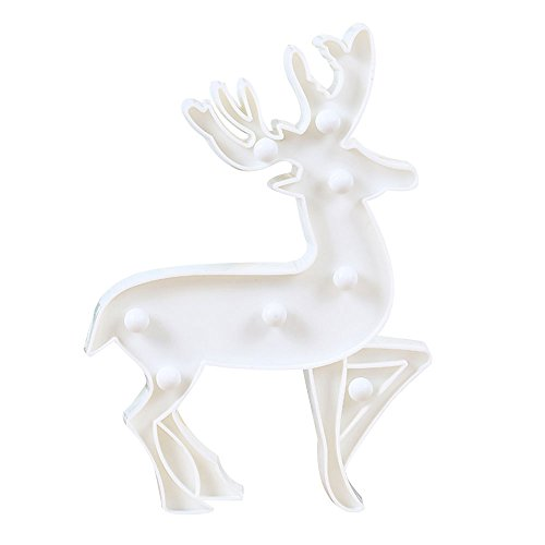 Christmas Elk Ornaments Table Modeling Lights Lamp Bedside Room Xmas Decoration Gift New Year LED