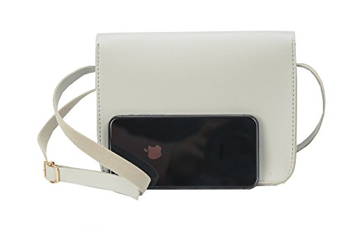 Pouch Grey Bag Womens Small Shoulder and PU for Case Ladies Cellphone Bag Cross Heshe Body Leather TZq0nC