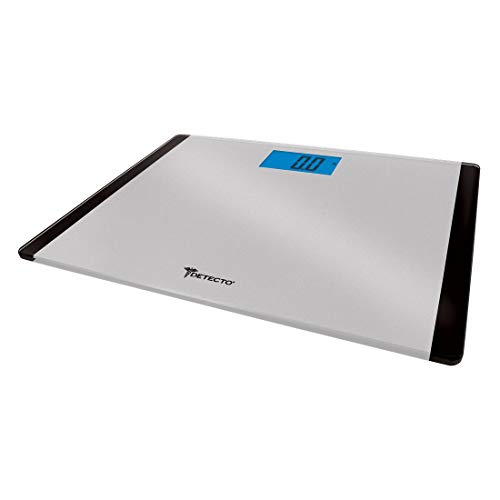 Detecto D119 Low Profile Extra Wide Body Weight Bathroom Scale, Digital LCD Display, 440lb -