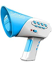 STOBOK Voice Changer Toy with 7 Different Voice Multi Voice Change Horn Noisemakers Megaphone Modifiers Kids Trick Prank Toy Blue