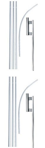 Swooper Flutter Flag Hardware-TWO 4 Piece Pole Kits with Ground Spikes