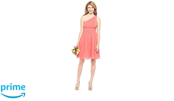 607535ee15 Tevolio Women s One Shoulder Chiffon Bridesmaid Dress at Amazon Women s  Clothing store