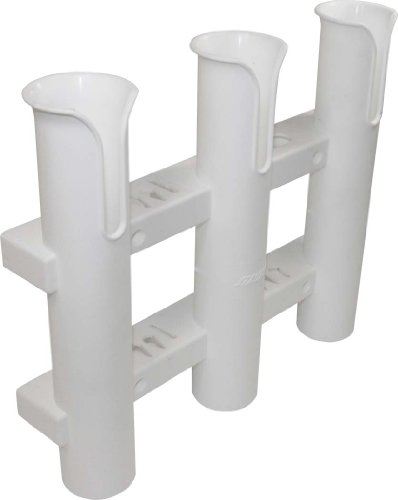 SeaSense Single Piece 3 Rack Rod Holder, White