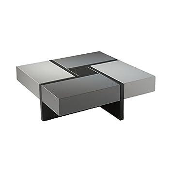 Basse H Et Carrée Noire Quadro Table Grise X Laque L 100 rdxCeBo