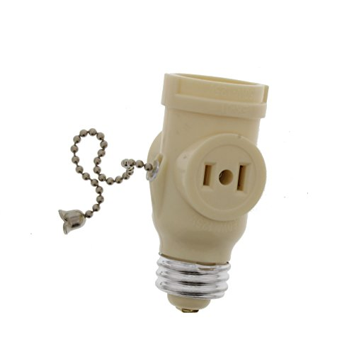 Bright-Way BWC718V Pull Chain Socket Adapter-Ivory