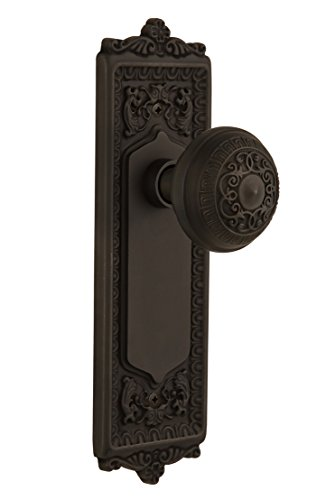 Nostalgic Warehouse BN40-EADEAD-OB Egg and Dart Plate with Egg and Dart Knob Privacy, Oil Rubbed Bronze