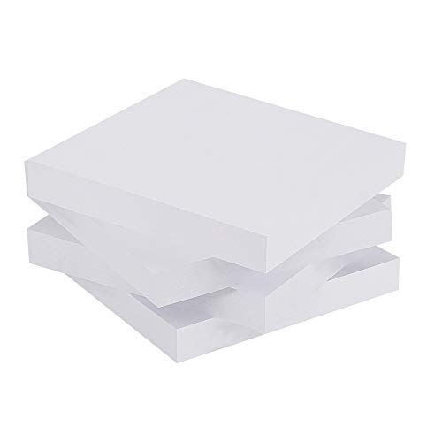 White Sticky Notes, 3 in x 3 in, 4 Pads/Pack, 100 Sheets/Pad