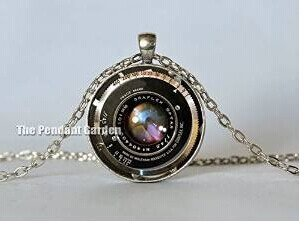Vintage camera lens necklace black bronze red graflex lens pendant vintage camera lens necklace black bronze red graflex lens pendant camera pendant gift for photographer photography mozeypictures Image collections