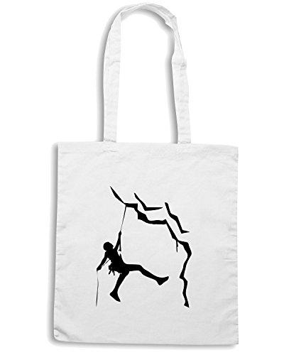T-Shirtshock - Bolsa para la compra SP0122 roccia climbing Maglietta Blanco