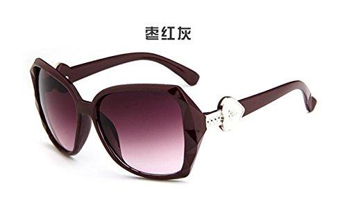 Unidos Estados de sol de retro afluencia gafas LSHGYJ GLSYJ moda sol de sol big gafas gray los yurta y gente box Jujube gafas Europa de 8w8IAqPX
