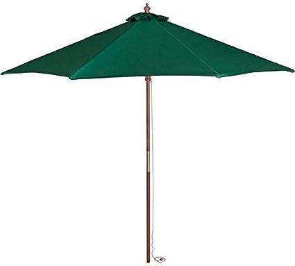 Sombrilla verde de 2 metros. Paraguas para patio o jardín. Cubierta de