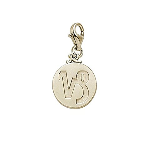 Gold Plated Capricorn Charm With Lobster Claw Clasp, Charms for Bracelets and Necklaces (Gold Capricorn Plated Charm)
