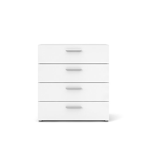 Tvilum 70505akuu Austin 4 Drawer Chest, Oak Structure/White High Gloss