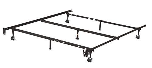 Kings Brand Furniture 7 Leg Adjustable Metal Bed Frame With Center Support Rug Rollers And