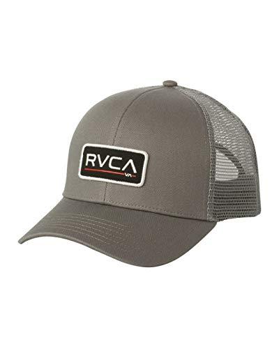 RVCA Men's Ticket Trucker Hat, Grey, One Size