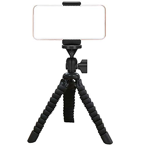 AILUN Phone Tripod, Tripod Mount/Stand[1Pack],Small&Light,Universal Compatible iPhone X/Xs/XR/Xs Max,8/8Plus,7/7Plus,6/6s,6/6sPlus,Galaxy S7/S6,Note 5/4 More Camera&Cellphone[Black]