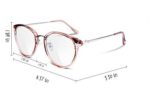 7988e4f4db6a FEISEDY Women Vintage Glasses Frames Round Non Prescription Eyewear Clear  Lens B2260