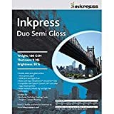 Inkpress Duo Semi Gloss, Double Sided Luster Surface Inkjet Paper, 180gsm, 9.0 mil., 5×7″, 50 Sheets, Office Central