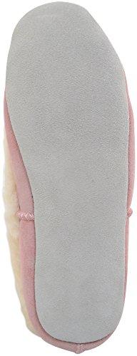 Snugrugs Ballerina Elena Pink Low Sheepskin Slippers Womens Pastel Top xtrwqgta