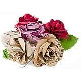 Scrappy Do Decorazione Rosa Musicale In Carta Con Pentagramma Extra Large Misto Floreale (8cm x 8cm)