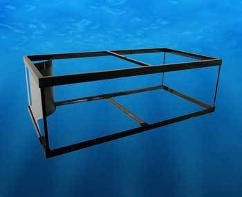 Deep Blue Professional ADB18080 80-Gallon Reef Ready Frag Aquarium Tank, 48 by 24 by 16-Inch, Black