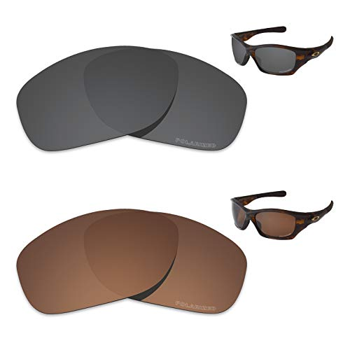 Tintart Performance Replacement Lenses for Oakley Pit Bull Polarized Etched - Value ()