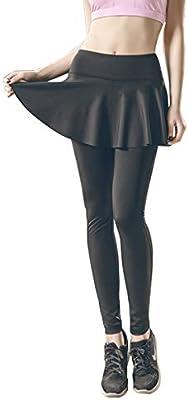 KSUA Mujeres Deporte Faldas Leggings Cintura Alta Control de la ...