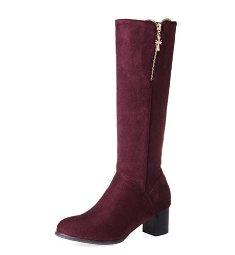 zgshnfgk Women's mid-Heeled Knight Boots high Boots US Women