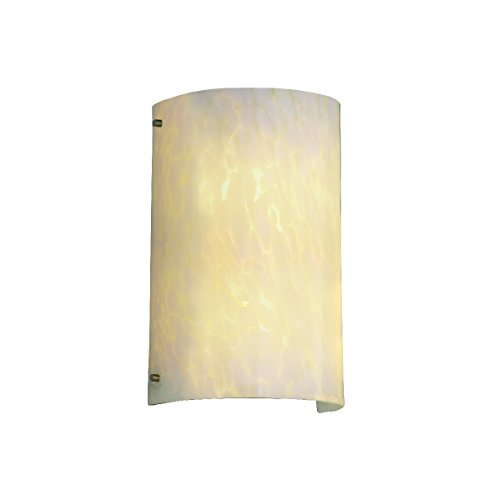 Justice Design Group Lighting FSN5542DROPDBRZ FusionCollection Finials Curved Wall Sconce