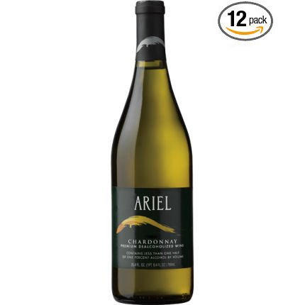 Ariel Chardonnay Non-alcoholic White Wine 750ml 12 Pack (Pack of 12) by ARIEL